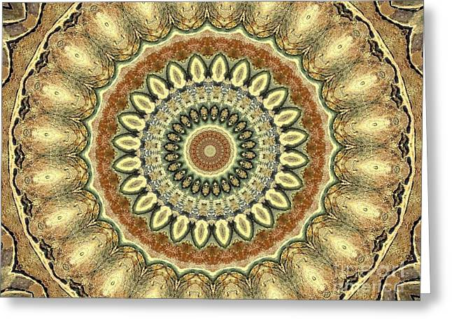 Sand Patterns Greeting Cards - Mandala No 105 Greeting Card by Lene Pieters