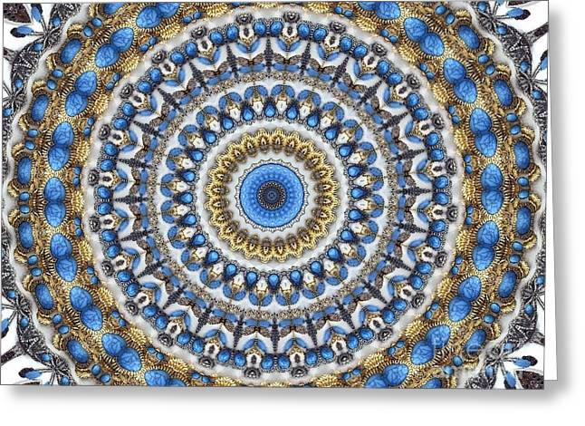 Sand Patterns Greeting Cards - Mandala No 109 Greeting Card by Lene Pieters
