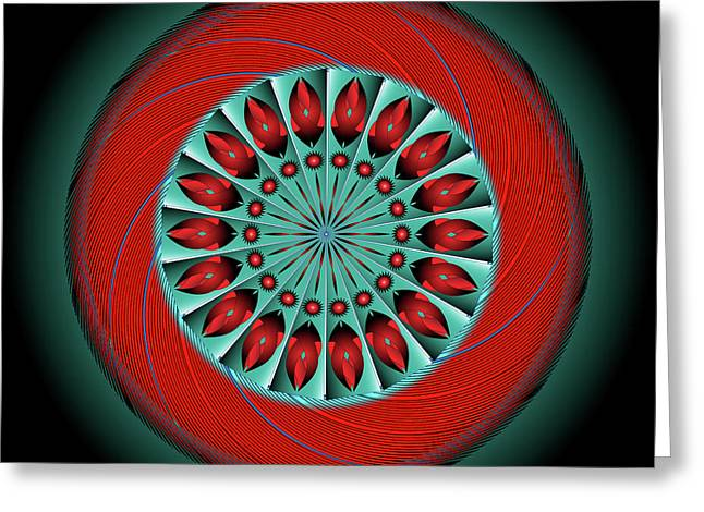 Metaphysics Digital Greeting Cards - Mandala No. 20 Greeting Card by Alan Bennington