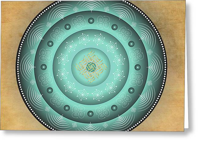 Metaphysics Digital Greeting Cards - Mandala No. 22 Greeting Card by Alan Bennington