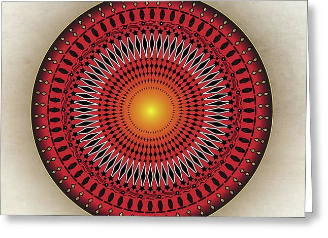 Metaphysics Digital Greeting Cards - Mandala No. 32 Greeting Card by Alan Bennington