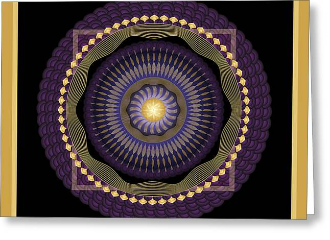 Metaphysics Digital Greeting Cards - Mandala No. 39 Greeting Card by Alan Bennington