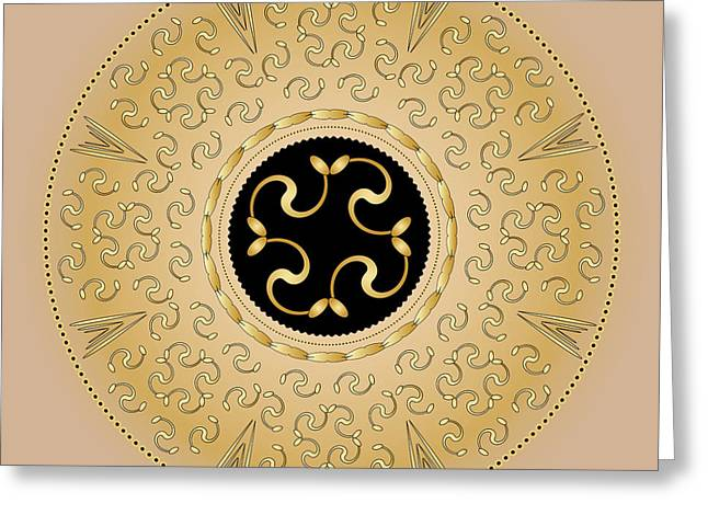 Metaphysics Digital Greeting Cards - Mandala No. 57 Greeting Card by Alan Bennington