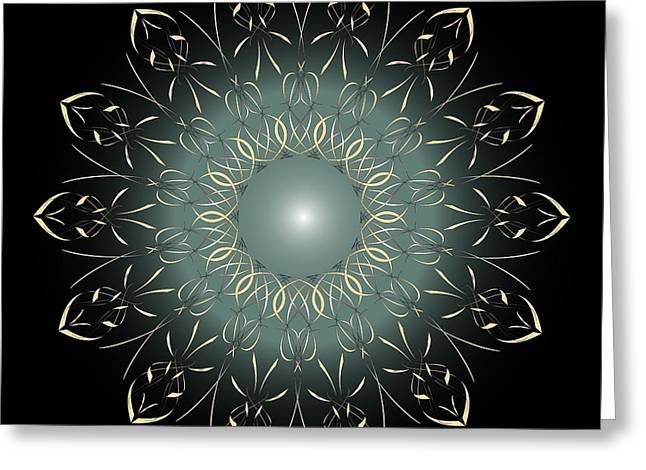 Metaphysics Digital Greeting Cards - Mandala No. 64 Greeting Card by Alan Bennington