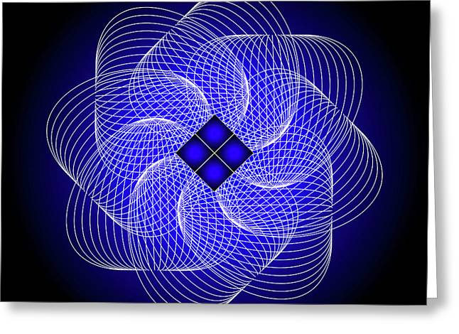 Metaphysics Digital Greeting Cards - Mandala No. 80 Greeting Card by Alan Bennington
