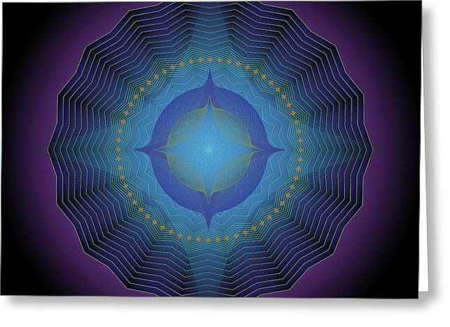 Metaphysics Digital Greeting Cards - Mandala No. 88 Greeting Card by Alan Bennington