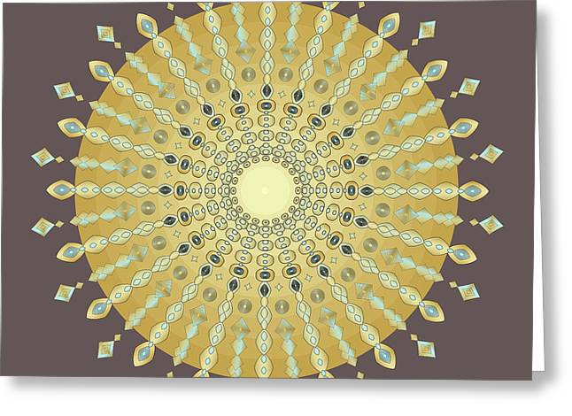 Metaphysics Digital Greeting Cards - Mandala No. 9 Greeting Card by Alan Bennington