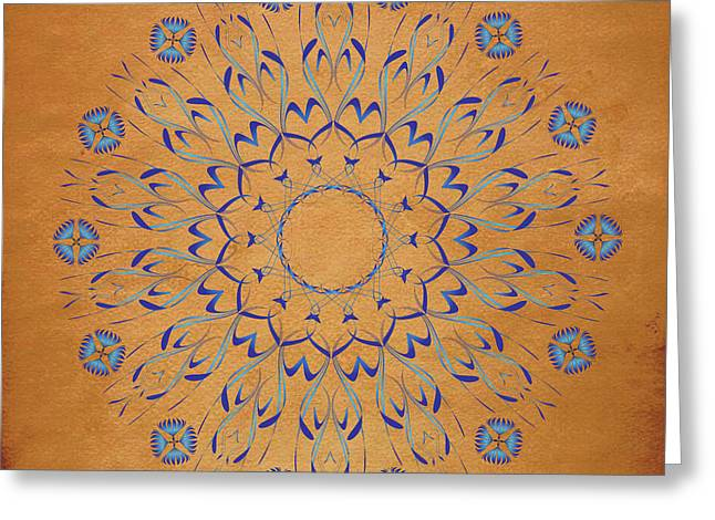 Metaphysics Digital Greeting Cards - Mandala No. 93 Greeting Card by Alan Bennington