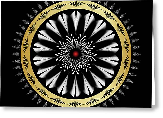 Metaphysics Digital Greeting Cards - Mandala No. 97 Greeting Card by Alan Bennington