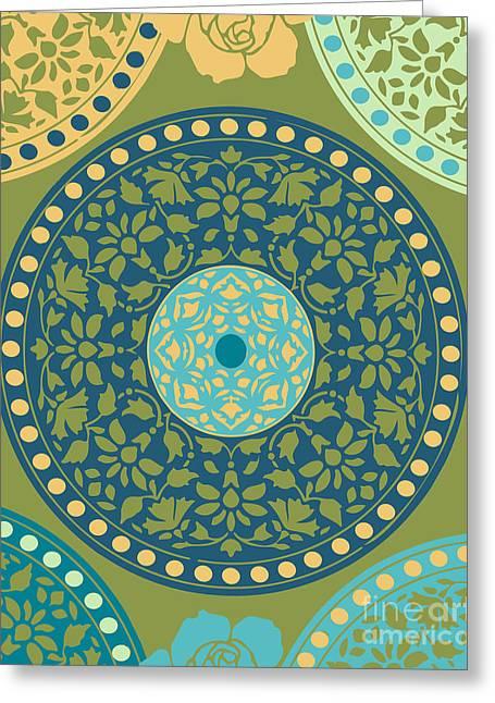 Mandala Pattern Greeting Card by Ramneek Narang