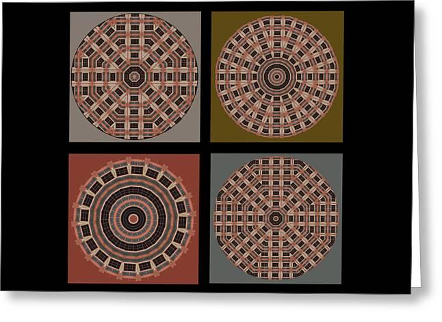Mandala - Quadriptych Greeting Card by Nikolyn McDonald