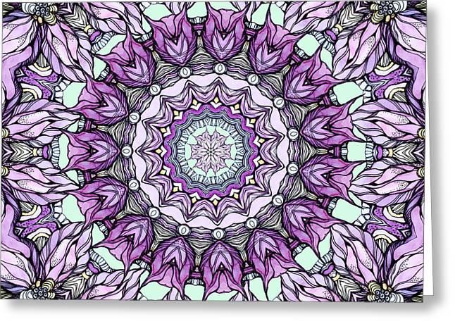 Pen Greeting Cards - Mandala#29 Greeting Card by Sviatlana Kandybovich