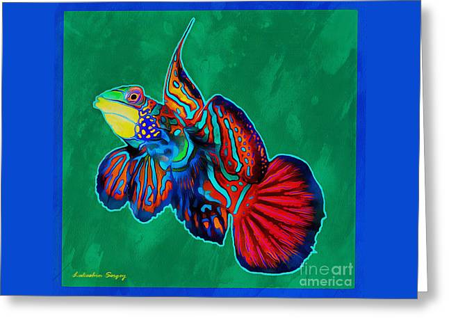 Best Ocean Photography Greeting Cards - Mandarin Fish Greeting Card by Sergey Lukashin