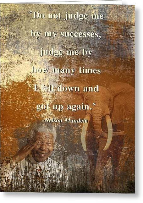 Texting Greeting Cards - Mandela 4 Greeting Card by Sharon Lisa Clarke