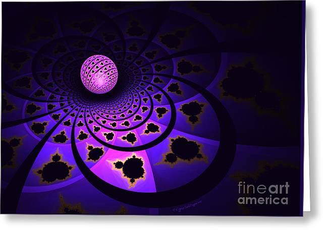Abstract Geometric Greeting Cards - Mandelbrot Ball Greeting Card by Jane Spaulding