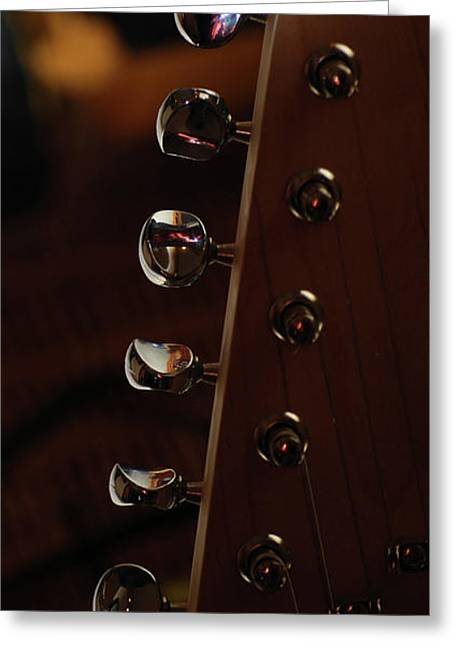 Guitar Stings Greeting Cards - Mandolin Pegs Greeting Card by Peter  McIntosh