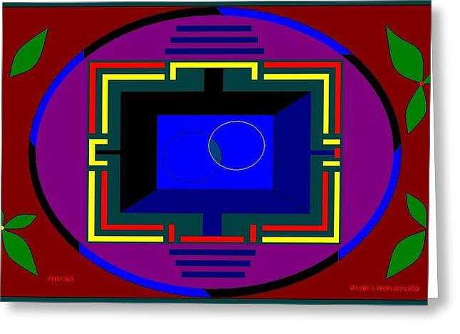 Etc. Paintings Greeting Cards - Mandorla. Greeting Card by Richard Magin