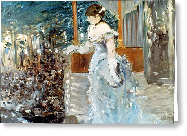 1879 Greeting Cards - Manet: Cafe-concert, 1879 Greeting Card by Granger