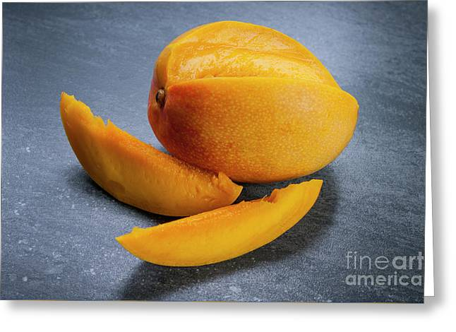 Mango And Slices Greeting Card by Elena Elisseeva