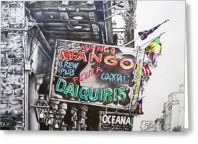Mango Greeting Cards - Mango Mango Greeting Card by Michael Lee Summers