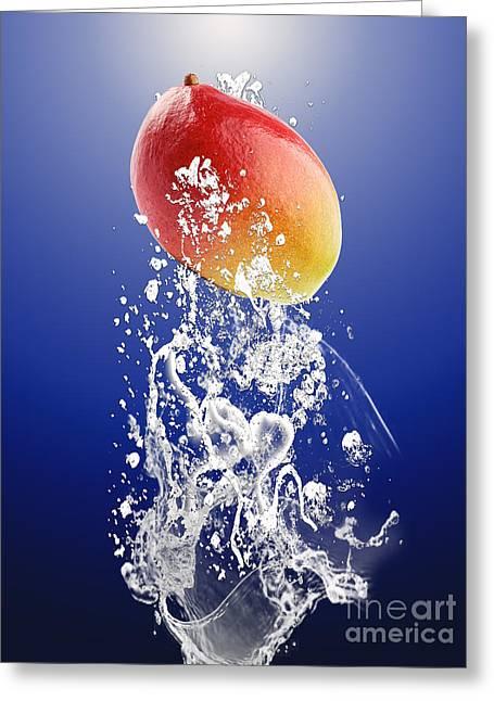 Mango Splash Greeting Card by Marvin Blaine