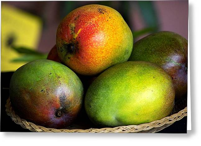 Tropical Fruit Greeting Cards - Mangos Greeting Card by Gary Dean Mercer Clark
