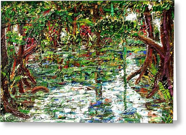 Mangrove Forest Tapestries - Textiles Greeting Cards - Mangroove Greeting Card by Samuel Miller