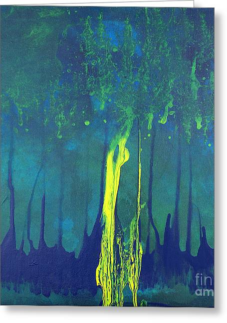 Mccoy Paintings Greeting Cards - Mangrove Mood Greeting Card by Nickola McCoy-Snell