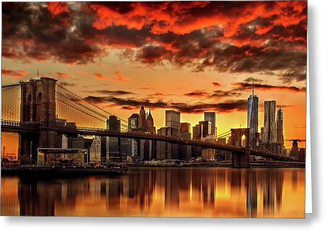 Beautiful Cities Greeting Cards - Manhattan BBQ Greeting Card by Az Jackson