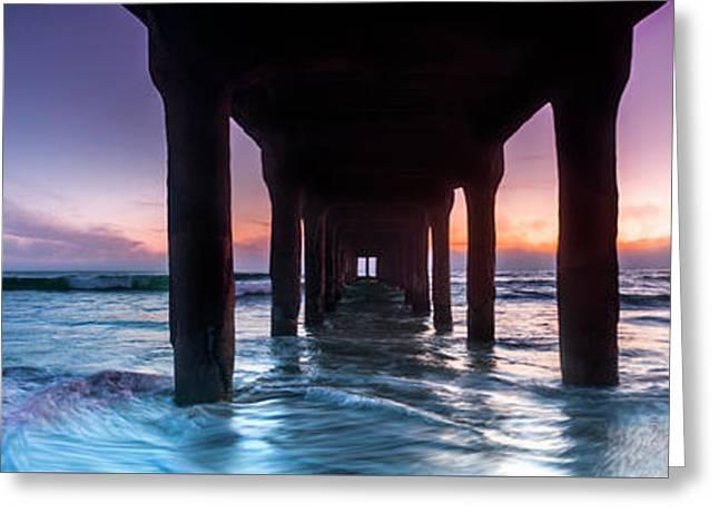 Manhattan Beach Pier Pastels Greeting Card by Sean Davey