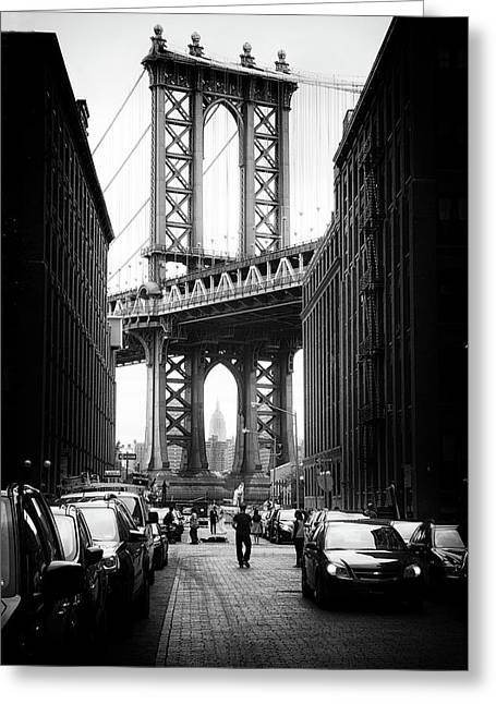 Manhattan Bridge View Greeting Card by Jessica Jenney