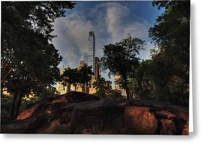 Manhattan - Central Park 002 Greeting Card by Lance Vaughn