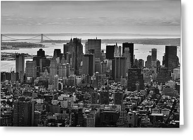 Buero Greeting Cards - Manhattan Cityscape Greeting Card by Andreas Freund