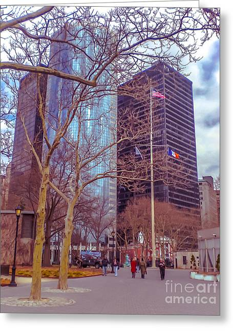 Manhattan Greeting Card by Claudia M Photography