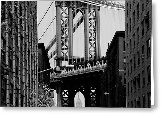 Manhattan Bridge Greeting Cards - Manhattan Empire Greeting Card by Andrew Fare