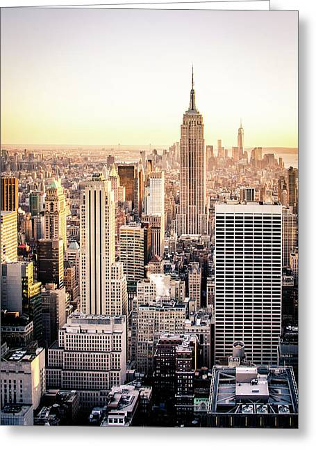 Manhattan Greeting Card by Michael Weber