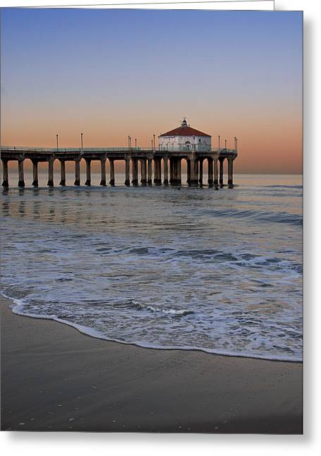 California Beach Greeting Cards - Manhattan Morning Greeting Card by Kevin Bergen