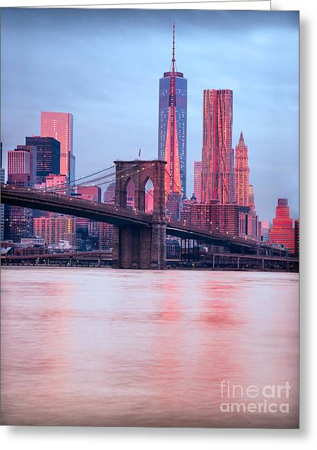 Famous Bridge Greeting Cards - Manhattan -  New York City - USA Greeting Card by Luciano Mortula