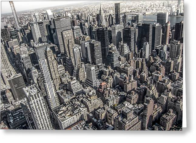 Aerial Greeting Cards - Manhattan Greeting Card by Nicklas Gustafsson