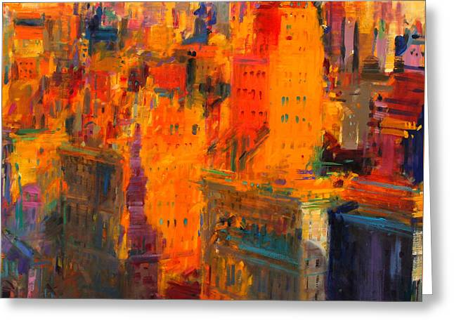 Midtown Greeting Cards - Manhattan Greeting Card by Peter Graham