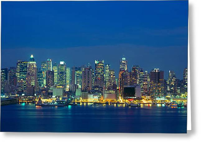 Manhattan Skyline From Weehawken, Nj Greeting Card by Panoramic Images
