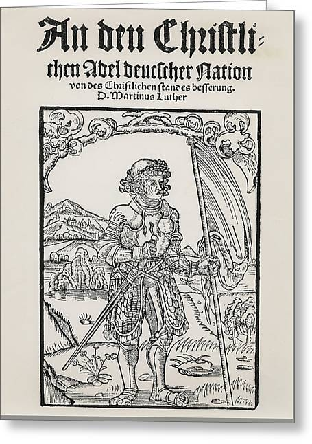 Manifesto To The Christian Nobility Of The German Nation Greeting Card by German School