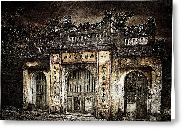 Temple Gate Greeting Card by Skip Nall