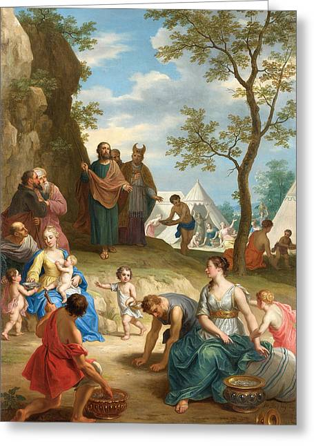 Balthasar Greeting Cards - Manna-Lese Greeting Card by Celestial Images