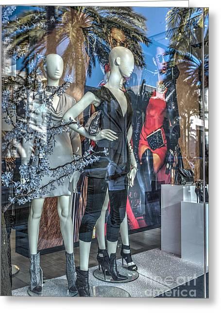 Mannequins In Beverly Hills Greeting Card by David Zanzinger