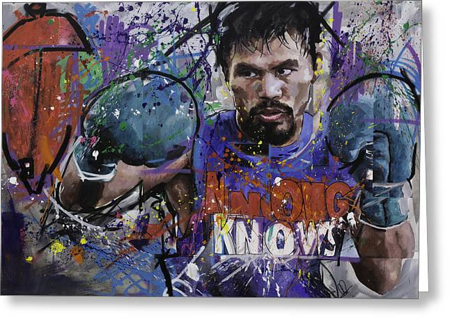 Manny Pacquiao Greeting Card by Richard Day