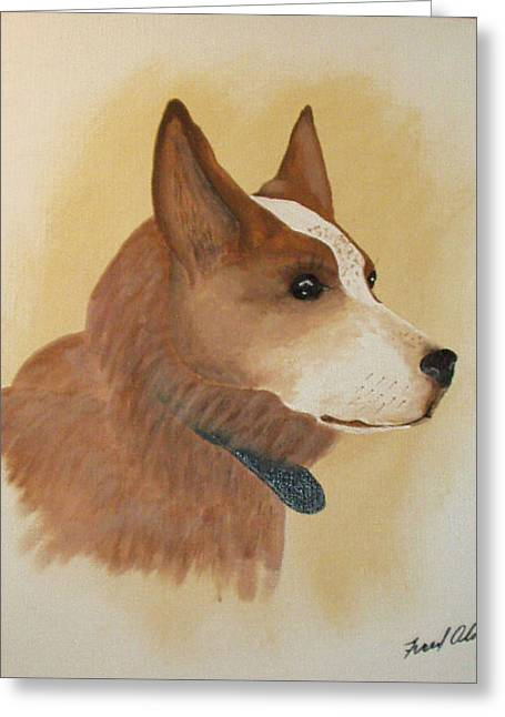 Best Friend Greeting Cards - Mans Best Friend Greeting Card by Fred s Olds sr