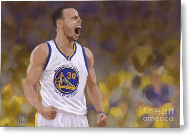 Golden State Warriors Digital Greeting Cards - Mans Game Greeting Card by Jeremy Nash