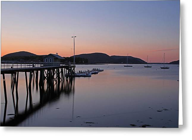 New England Ocean Greeting Cards - Manset Harbor Greeting Card by Juergen Roth