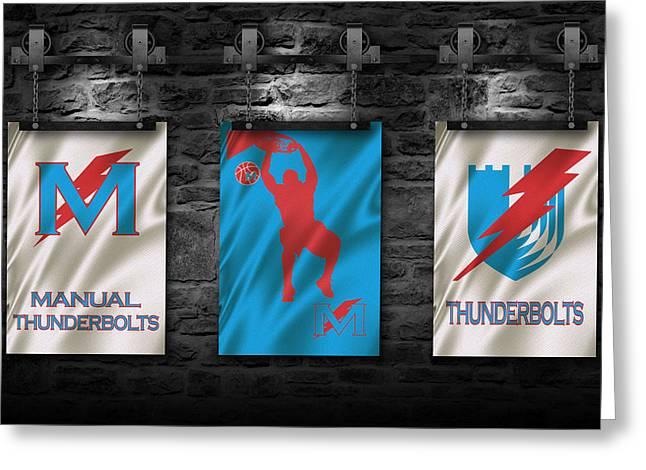 Basket Ball Greeting Cards - Manual Thunderbolts 3 Greeting Card by Joe Hamilton
